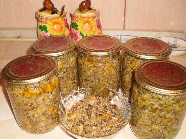 Грибная икра из вареных грибов: вкуснейшие рецепты на зиму