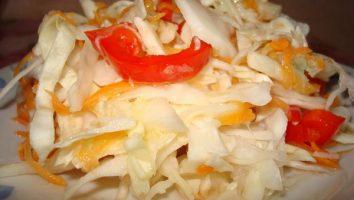 осенний салат с капустой