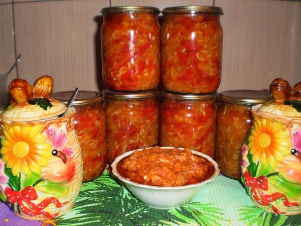 Салаты из капусты на зиму с рисом и овощами