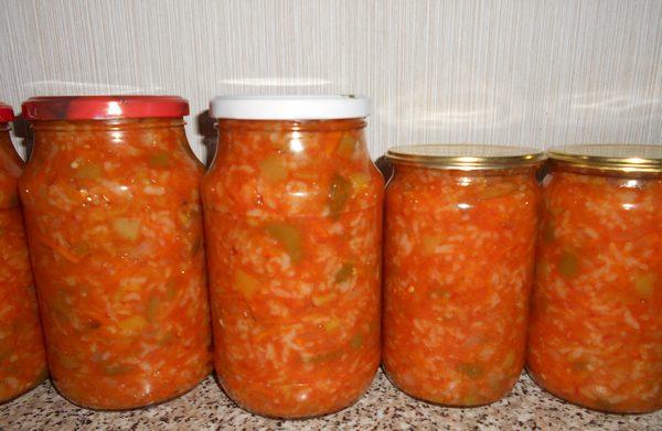 Салат с рисом и овощами на зиму: самые вкусные рецепты